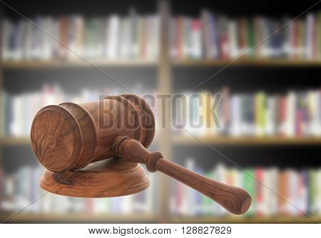Mallet of judge Court gavelLaw theme Wooden judge gavel.
