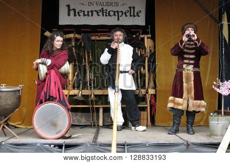 Medieval Musicians In Leipzig
