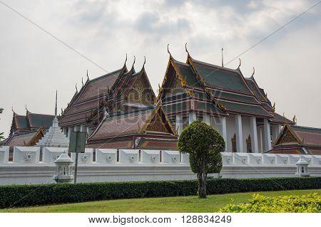 Wat Ratchanaddaram and Loha Prasat Metal Palace in Bangkok Thailand