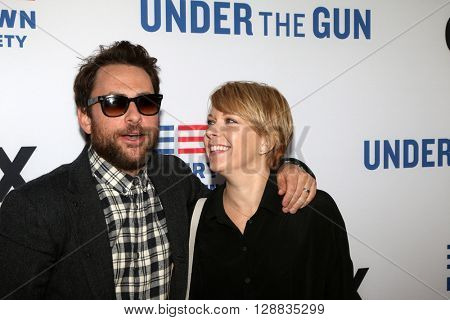 LOS ANGELES - MAY 3:  Charlie Day, Mary Elizabeth Ellis at the Under the Gun Premiere at the Samuel Goldwyn Theater on May 3, 2016 in Beverly Hills, CA