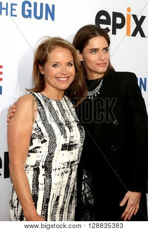 LOS ANGELES - MAY 3:  Katie Couric, Amanda Peet at the Under the Gun Premiere at the Samuel Goldwyn Theater on May 3, 2016 in Beverly Hills, CA