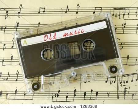 Cassette On Old Sheet Music