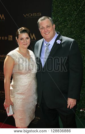 LOS ANGELES - May 1: Billy Gardell, Patty Gardell at The 43rd Daytime Emmy Awards Gala at the Westin Bonaventure Hotel on May 1, 2016 in Los Angeles, California