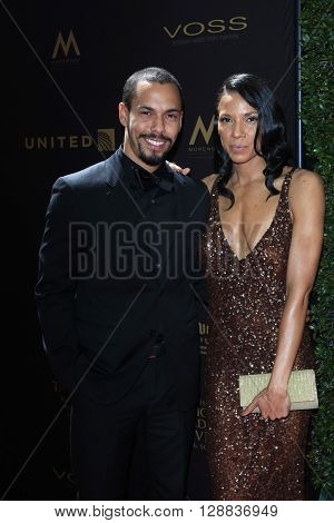 LOS ANGELES - May 1: Bryton James, Ashley Leisinger at The 43rd Daytime Emmy Awards Gala at the Westin Bonaventure Hotel on May 1, 2016 in Los Angeles, California