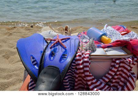 Summer Clothes On Beach