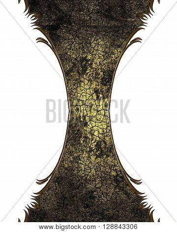 Grunge Cracked Structure With A Yellow Tinge. Template For Design. Copy Space For Ad Brochure Or Ann