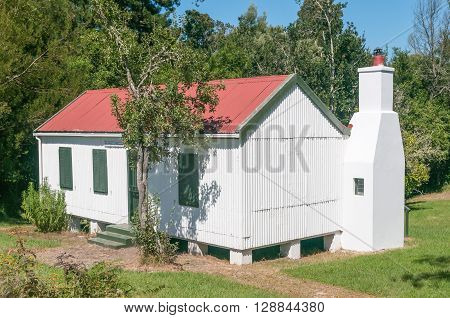 MILLWOOD SOUTH AFRICA - MARCH 4 2016: An original mining house at Mother Hollys Tea Garden used as accommodation for visitors