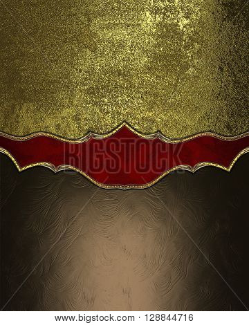 Brown And Gold Background With A Pattern. Template For Design. Copy Space For Ad Brochure Or Announc