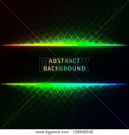 Abstract lights gradient strips on dark background