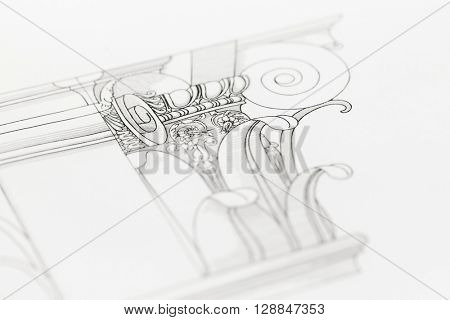 drawing the architectural details - columns element