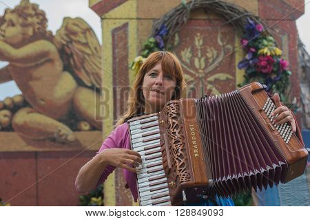 Woman Musician Accordionist
