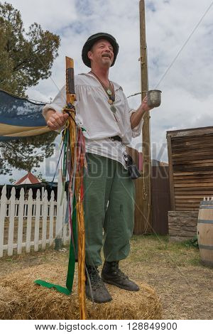 Man With Medieval Fantasy Performing