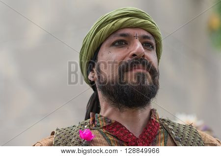 Man With Medieval Costume Performing