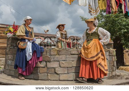 Women With Medieval Costumes