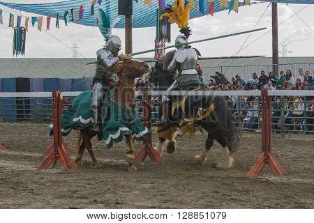 Actors As Medieval Knights