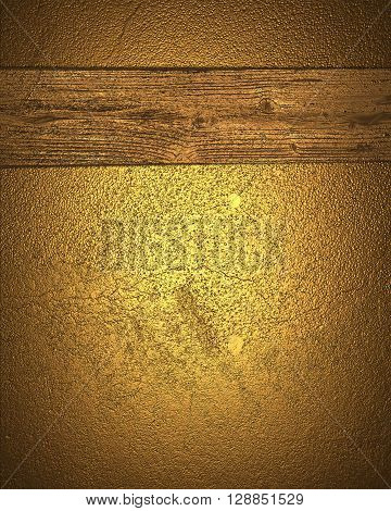 Grunge Gold Background With A Yellow Board. Template For Design. Copy Space For Ad Brochure Or Annou