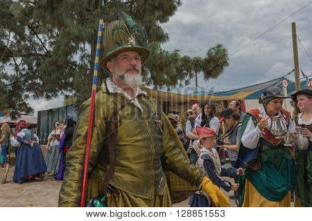 Man With Medieval Costume