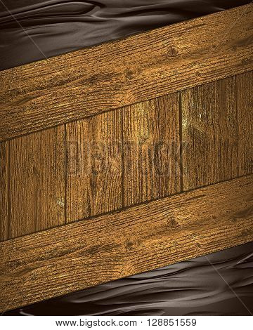 Abstract Brown Background With Wooden Frame Grunge. Template For Design. Copy Space For Ad Brochure