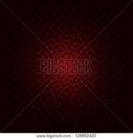 Abstract lights red strips on dark background