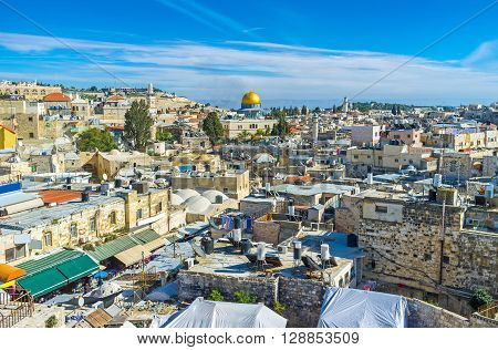 The ramparts of Jerusalem nowadays serves as the nice viewpoints overlooking all the main landmarks Israel.