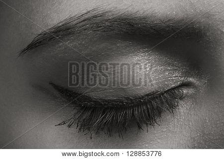 Beautiful eye makeup eyeliner. Expressive eyes girls.