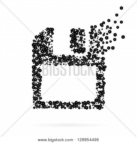 Abstract creative concept vector icon of diskette for Web and Mobile app isolated on background. Art illustration template design, Business infographic and social media, digital flat silhoette