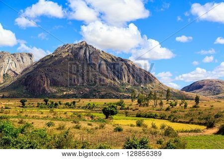 Landscape With Rock Formation In Central Madagascar