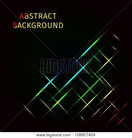 Abstract lights gradient strips on dark background
