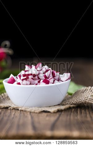 Bowl With Diced Radishes