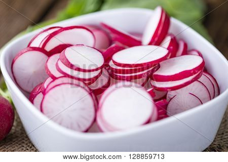 Some Fresh Chopped Radishes