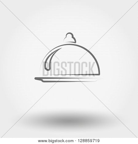 Simple line web icon Food serving. Vector illustration on a white background. Doodle, cartoon style.