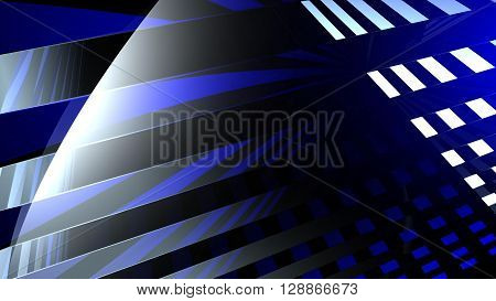 Abstract illustration of a green and blue background consisting of trapezoids.