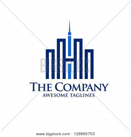 Real Estate Logo Design. Creative abstract real estate icon with letter H logo
