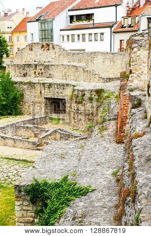 Archeological site in Sopron, in Hungary Europe.