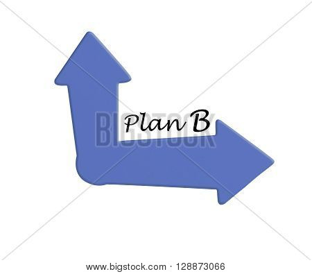 Plan B Choice Concept Showing Strategy Change Or Dilemma