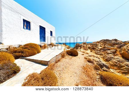 Rock Sea And   Mykonos Island   Blue
