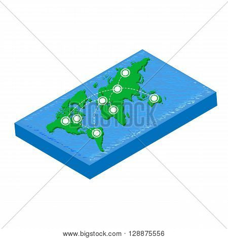 World map isometric. World map object. World map icon. World map infographic. World map clean. World map art.World map blank. World map vector. World map flat. World map template.