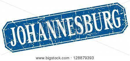 Johannesburg blue square grunge retro style sign