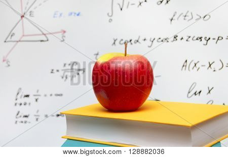 the apple on a background of the board