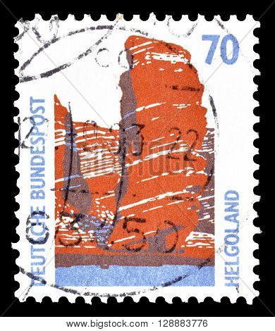 GERMANY - CIRCA 1990 : Cancelled postage stamp printed by Germany, that shows Heligoland.