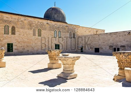Israel Jerusalem an antique mosque on the Temple Mount (Har Habait)