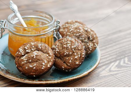 Protein Muffin  With Jam