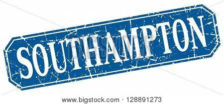 Southampton blue square grunge retro style sign