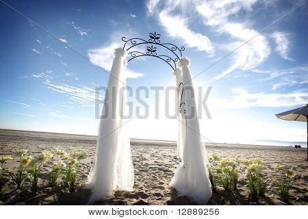 Wedding Alter at Beach Elopement