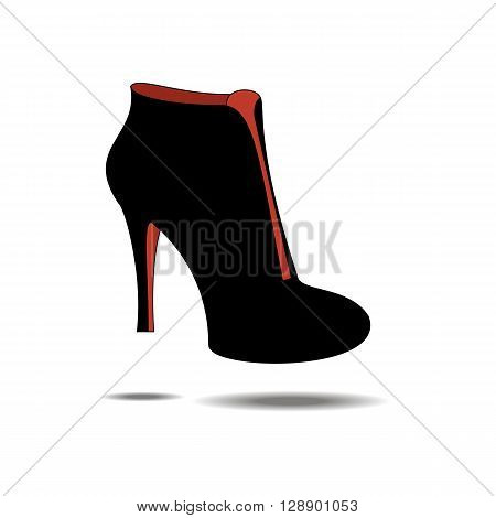 Ankle boots shoes. Shoes illustration. Boots icon. Vector illustration
