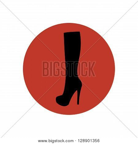 Boots illustration. Shoes illustration. Boots icon. Vector illustration