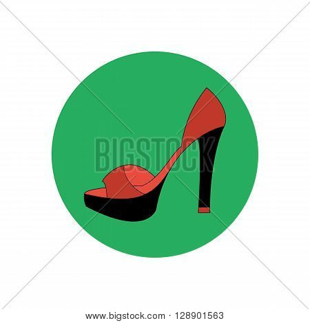 High heels illustration. Shoes illustration. Shoes icon. Vector illustration