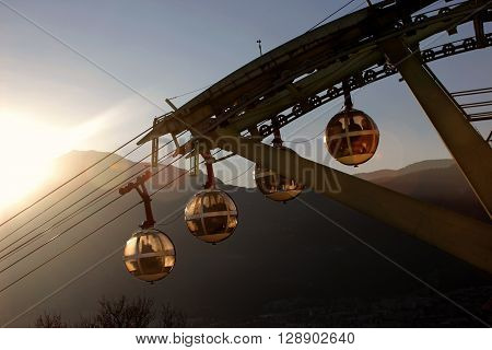 Grenoble Bastille cable car in Grenoble France