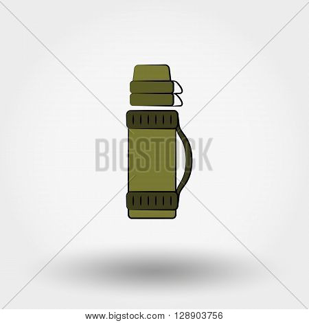 Thermos icon for web and mobile application. Vector illustration on a white background. Flat design style.