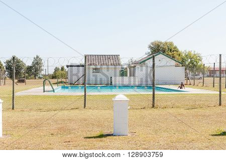 KARATARA SOUTH AFRICA - MARCH 4 2016: The public swimming pool in Karatara a village on the Seven Passes Road in the Garden Route
